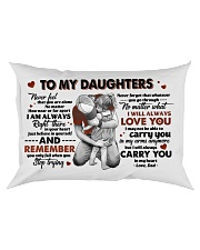 To Daughter - Hugging - Never Feel That You Rectangular Pillowcase thumbnail