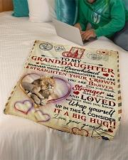 "Grandma to Granddaughter - Fleece Blanket  Small Fleece Blanket - 30"" x 40"" aos-coral-fleece-blanket-30x40-lifestyle-front-07"