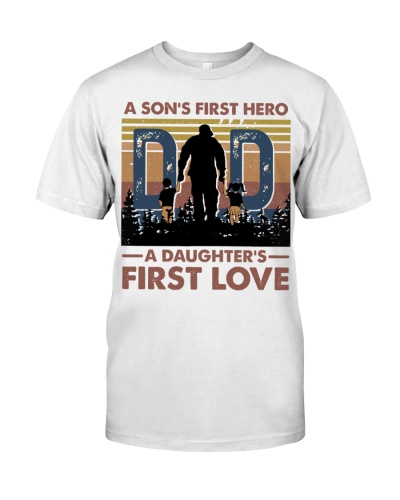 T-SHIRT - DAD AND CHILD - FIRST HERO FIRST LOVE