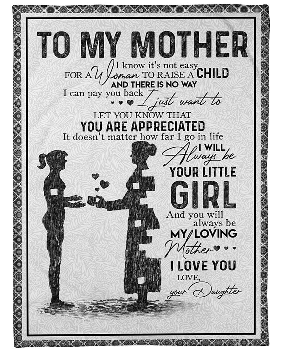 "DAUGHTER TO MOTHER Large Fleece Blanket - 60"" x 80"""