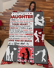 """To My Daughter - Never Feel That You Are Alone Large Fleece Blanket - 60"""" x 80"""" aos-coral-fleece-blanket-60x80-lifestyle-front-04"""