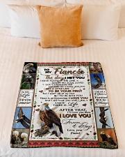 "TO MY FIANCE'E Small Fleece Blanket - 30"" x 40"" aos-coral-fleece-blanket-30x40-lifestyle-front-04"