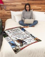 "TO MY FIANCE'E Small Fleece Blanket - 30"" x 40"" aos-coral-fleece-blanket-30x40-lifestyle-front-08"