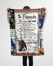 "TO MY FIANCE'E Small Fleece Blanket - 30"" x 40"" aos-coral-fleece-blanket-30x40-lifestyle-front-14"