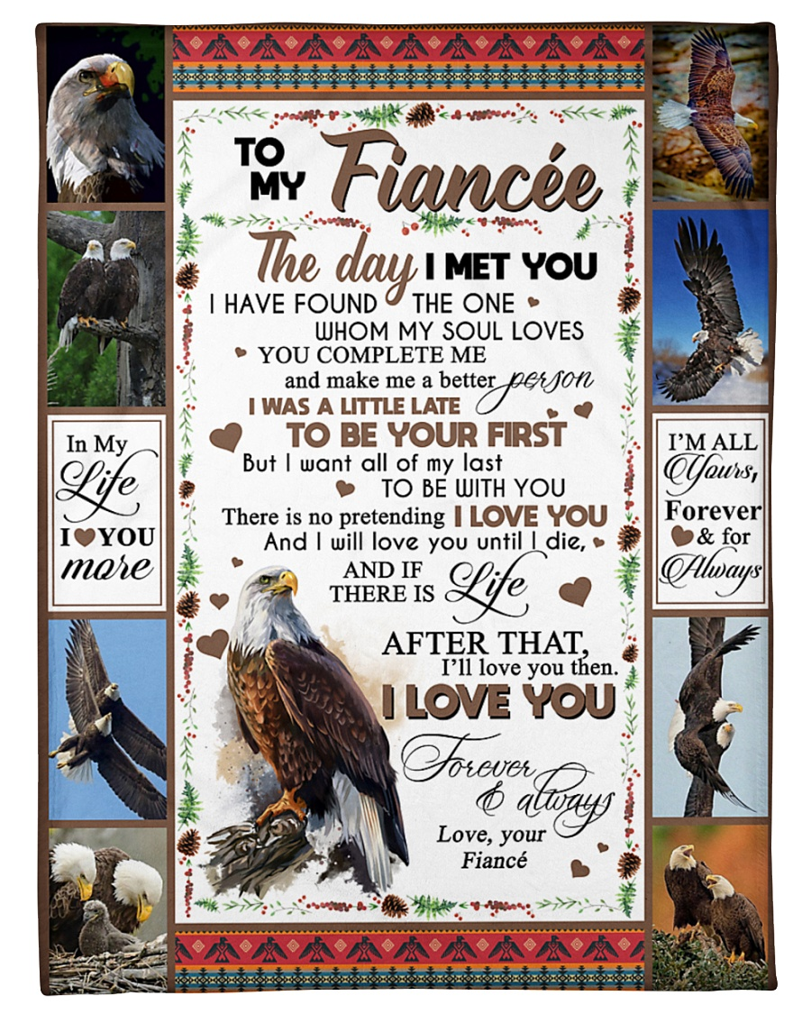 "TO MY FIANCE'E Small Fleece Blanket - 30"" x 40"""