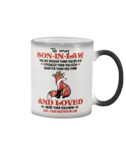 SON-IN-LAW - FOX - LOVED MORE THAN YOU KNOW Color Changing Mug thumbnail