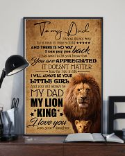 TO MY DAD - LION - YOU ARE APPRECIATED 16x24 Poster lifestyle-poster-2