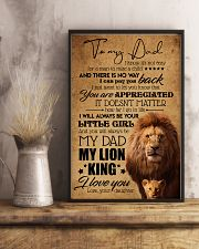 TO MY DAD - LION - YOU ARE APPRECIATED 16x24 Poster lifestyle-poster-3