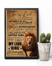 TO MY DAD - LION - YOU ARE APPRECIATED 16x24 Poster lifestyle-poster-8