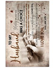To Husband - Hand In Hand - Meeting You Was Fate 16x24 Poster front