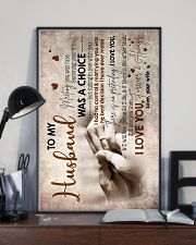 To Husband - Hand In Hand - Meeting You Was Fate 16x24 Poster lifestyle-poster-2