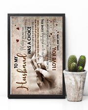 To Husband - Hand In Hand - Meeting You Was Fate 16x24 Poster lifestyle-poster-8