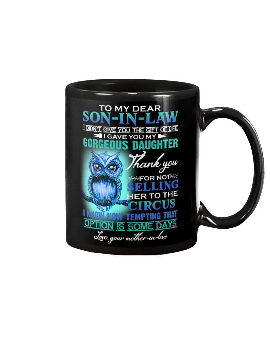 MUG - TO MY SON-IN-LAW - OWL - CIRCUS Mug