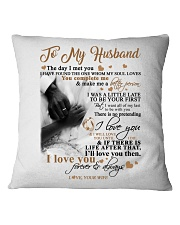 TO MY HUSBAND Square Pillowcase tile