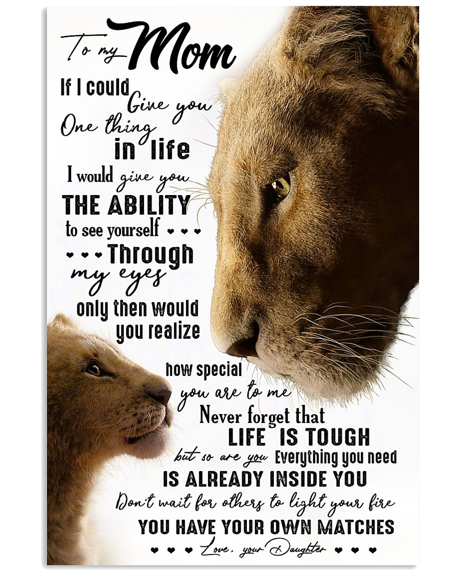 TO MY MOM - LION - IF I COULD 16x24 Poster
