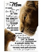 TO MY MOM - LION - IF I COULD 16x24 Poster front