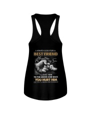 I asked God for a best friend Ladies Flowy Tank thumbnail