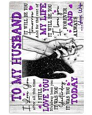 To My Husband - Poster 16x24 Poster front