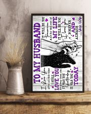 To My Husband - Poster 16x24 Poster lifestyle-poster-3