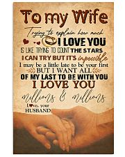 TO MY WIFE - HAND IN HAND - I LOVE YOU 16x24 Poster front