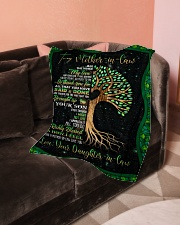 """To My Mother-in-law - Tree - Fleece Blanket Small Fleece Blanket - 30"""" x 40"""" aos-coral-fleece-blanket-30x40-lifestyle-front-05"""
