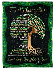 "To My Mother-in-law - Tree - Fleece Blanket Small Fleece Blanket - 30"" x 40"" front"