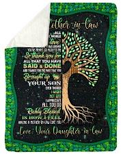 """To My Mother-in-law - Tree - Fleece Blanket Large Sherpa Fleece Blanket - 60"""" x 80"""" thumbnail"""