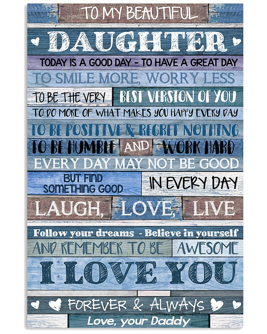 DADDY TO DAUGHTER 16x24 Poster
