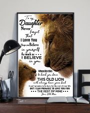 POSTER - TO MY DAUGHTER - OLD MAN - NEVER FORGET 16x24 Poster lifestyle-poster-2
