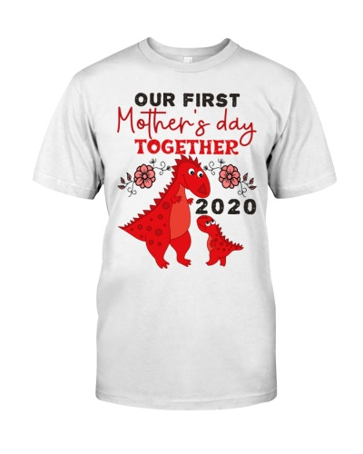 COUPLE T SHIRT - MOM AND BABY - DINO - OUR FIRST