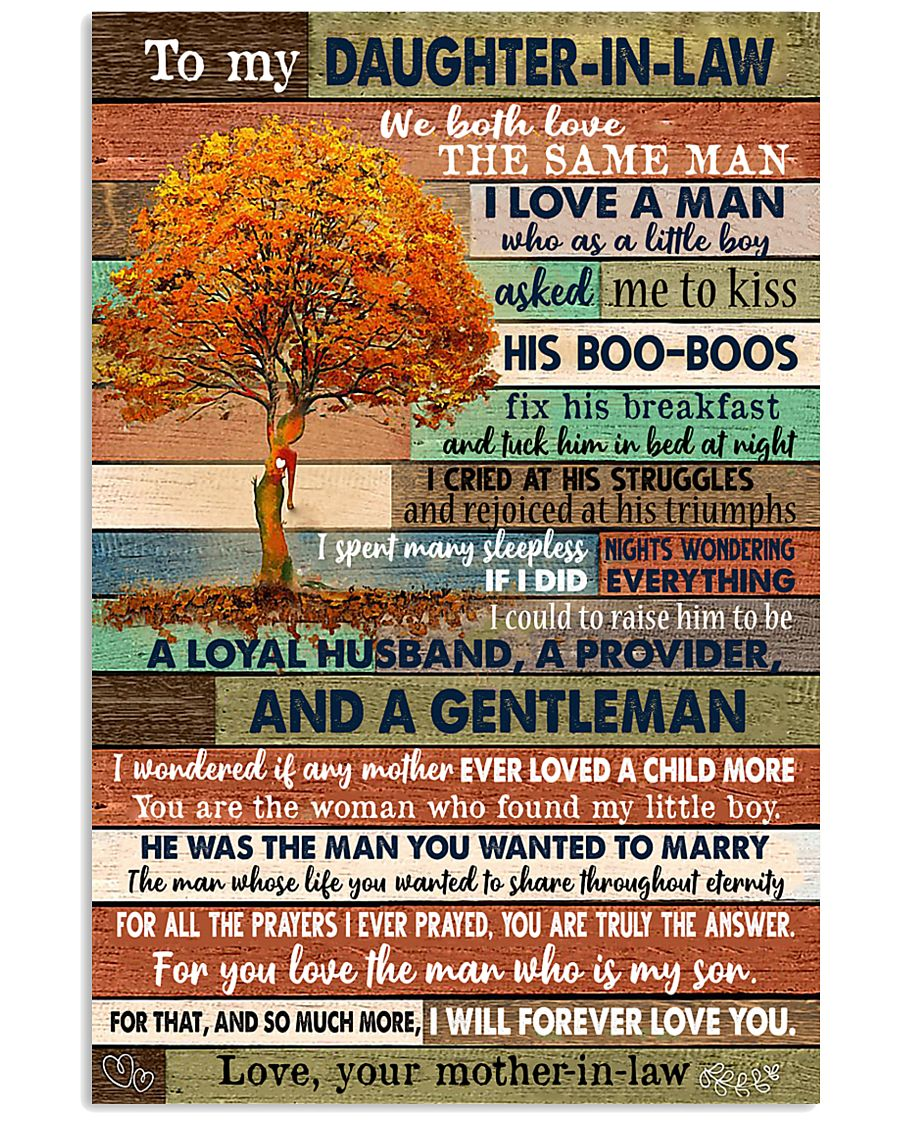 TO MY DAUGHTER-IN-LAW - FAMILY TREE - I LOVE YOU 16x24 Poster