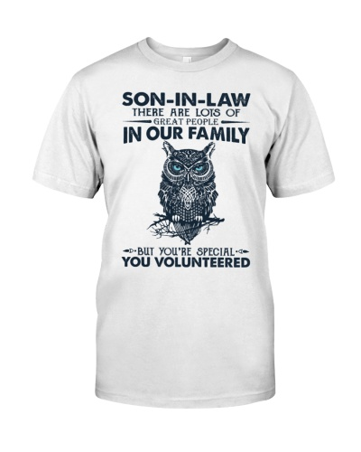 T-SHIRT - SON-IN-LAW - OWL - YOU VOLUNTEERED