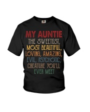 My auntie Youth T-Shirt front