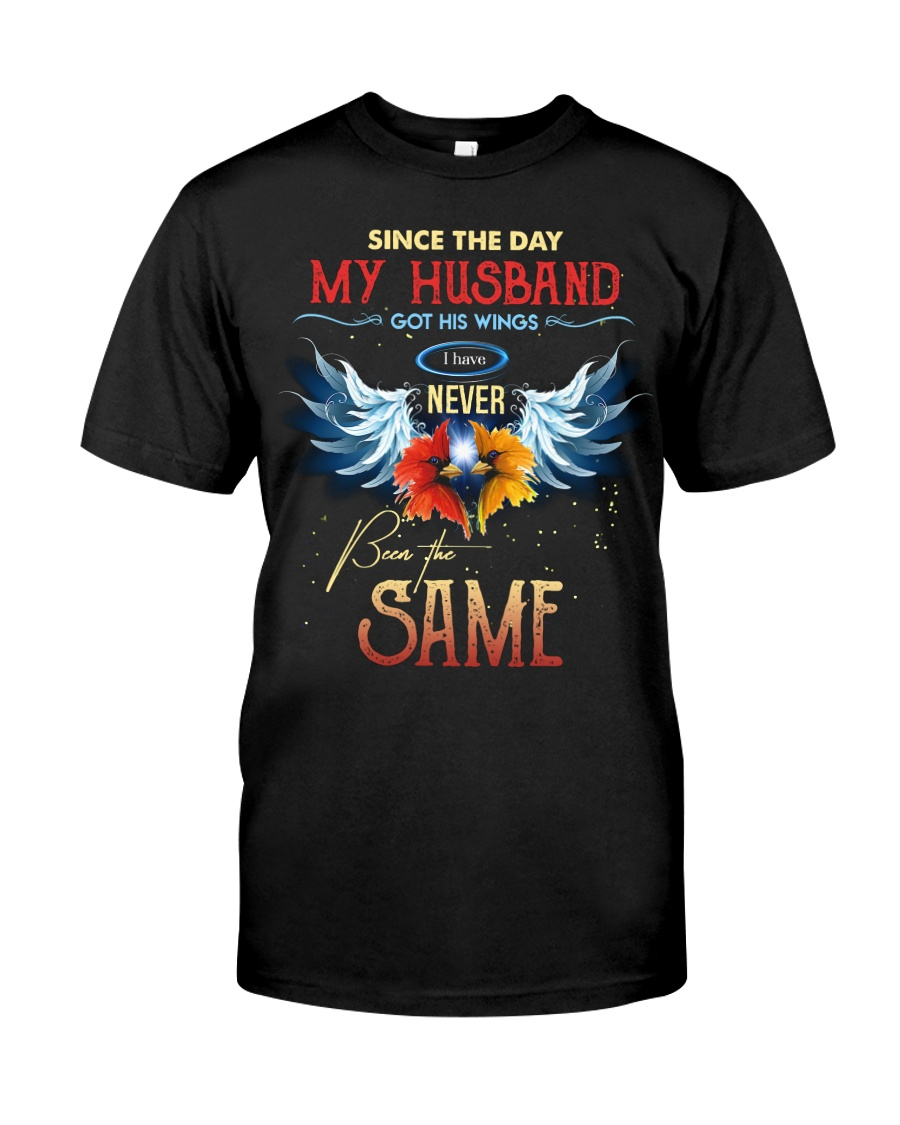 T-SHIRT - MY ANGEL HUSBAND - WINGS - THE SAME Classic T-Shirt