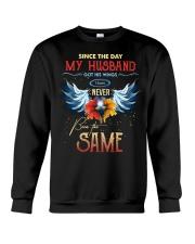 T-SHIRT - MY ANGEL HUSBAND - WINGS - THE SAME Crewneck Sweatshirt thumbnail