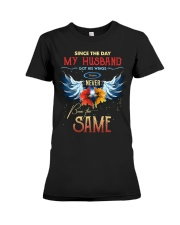 T-SHIRT - MY ANGEL HUSBAND - WINGS - THE SAME Premium Fit Ladies Tee thumbnail