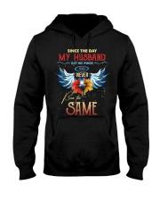 T-SHIRT - MY ANGEL HUSBAND - WINGS - THE SAME Hooded Sweatshirt thumbnail