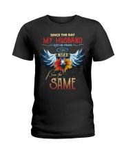 T-SHIRT - MY ANGEL HUSBAND - WINGS - THE SAME Ladies T-Shirt thumbnail
