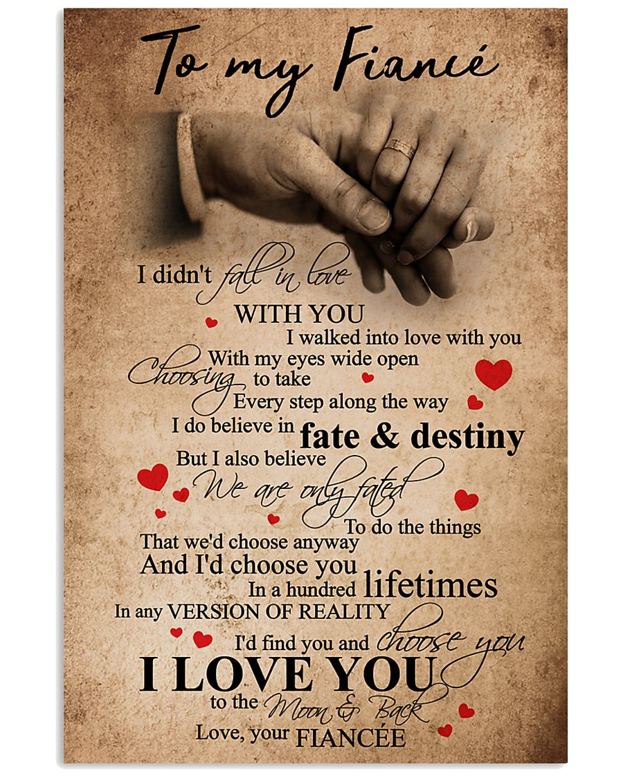 TO MY FIANCE 16x24 Poster