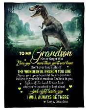 "GRANDMA TO GRANDSON - T REX - BE THERE Small Fleece Blanket - 30"" x 40"" front"