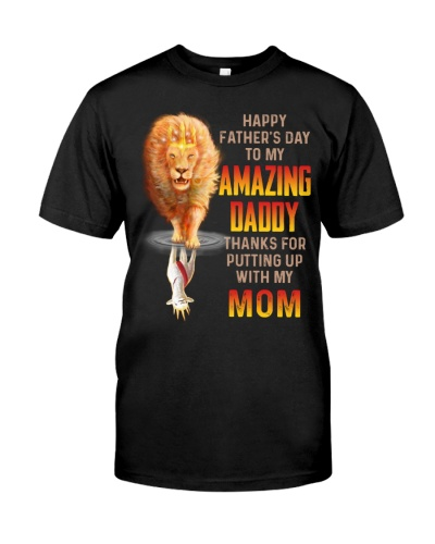 T-SHIRT - TO MY BONUS DAD - LION