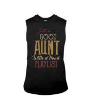 Just a Good Aunt with a hood playlist Sleeveless Tee thumbnail