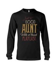 Just a Good Aunt with a hood playlist Long Sleeve Tee thumbnail