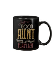 Just a Good Aunt with a hood playlist Mug thumbnail