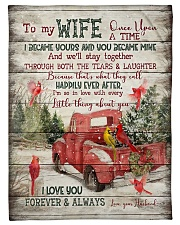 To My Wife - Christmas - Once Upon A Time Fleece Blanket tile