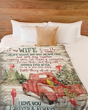 "To My Wife - Christmas - Once Upon A Time Large Fleece Blanket - 60"" x 80"" aos-coral-fleece-blanket-60x80-lifestyle-front-02"