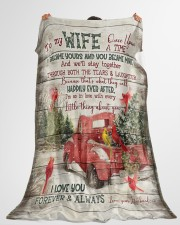 "To My Wife - Christmas - Once Upon A Time Large Fleece Blanket - 60"" x 80"" aos-coral-fleece-blanket-60x80-lifestyle-front-10"