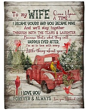 "To My Wife - Christmas - Once Upon A Time Large Fleece Blanket - 60"" x 80"" front"