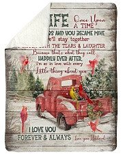 "To My Wife - Christmas - Once Upon A Time Large Sherpa Fleece Blanket - 60"" x 80"" thumbnail"