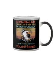 SON-IN-LAW - EAGLE - VINTAGE - YOU VOLUNTEERED Color Changing Mug thumbnail